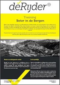 Training beter in de bergen - Motorrijden